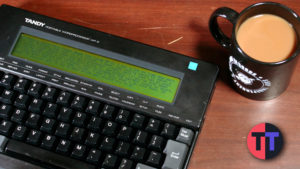 Simple Portable Writing with 1989's Tandy WP-2 – #SepTandy