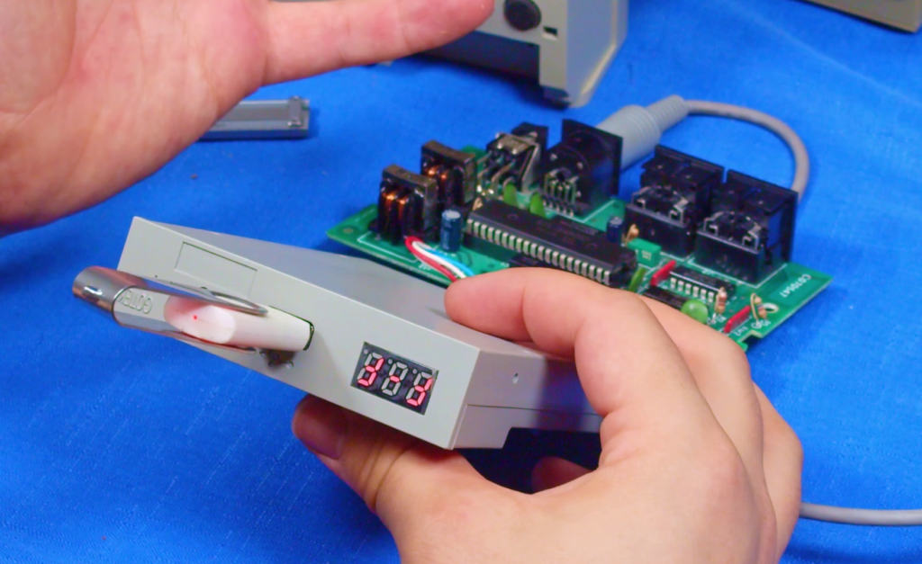 Gotek floppy emulator connected to the SF354's interface board
